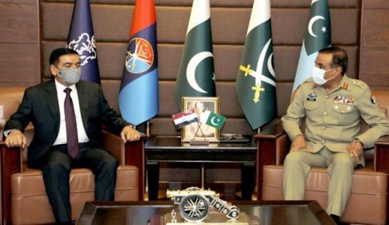 چیئرمین جوائنٹ چیفس آف اسٹاف کمیٹی سے عراقی وزیردفاع کی ملاقات