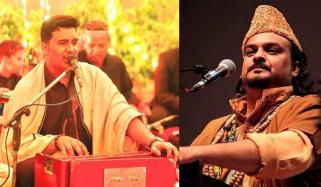 امجد صابری کے بڑے بیٹے کی قوالی کی ویڈیو وائرل