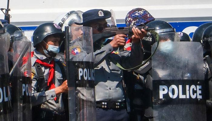 میانمار، پولیس فائرنگ میں 3 مظاہرین ہلاک