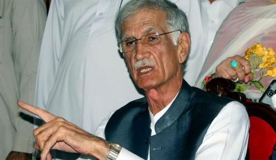 نوشہرہ کا ضمنی الیکشن ن لیگ نے جیتا نہیں چوری کیا ہے، پرویز خٹک