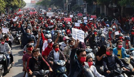 میانمار، سیکیورٹی فورسز کا مظاہرین پر بدترین تشدد