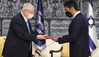 یو اے ای کے سفیر پہلی مرتبہ اسرائیل پہنچ گئے