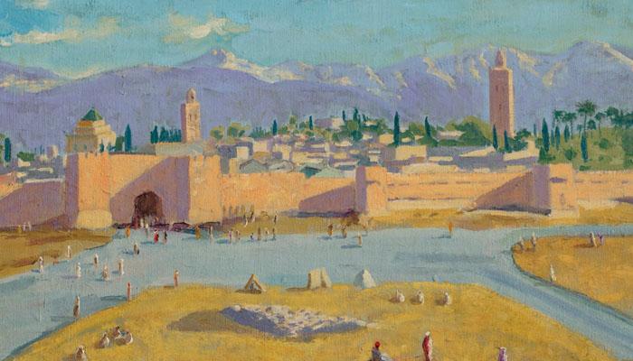انجیلینا جولی نے سابق برطانوی وزیراعظم کی بنائی ہوئی پینٹنگ نیلام کردی