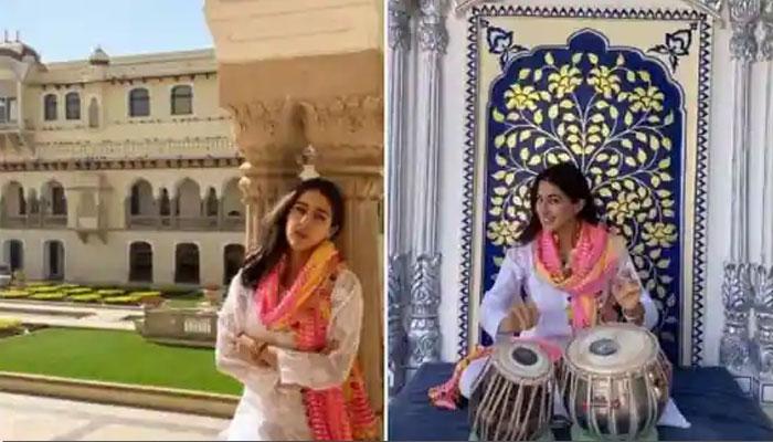 سارہ علی خان تبلہ بجانے کی بھی ماہر