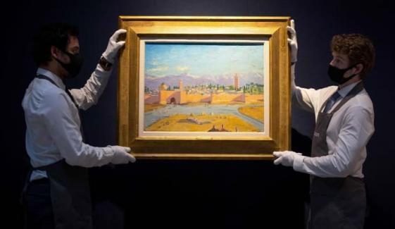 انجلینا جولی نے سابق برطانوی وزیراعظم کی بنائی ہوئی پینٹنگ نیلام کردی