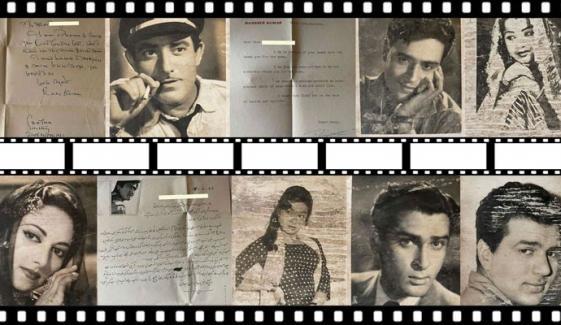 معروف اداکاروں کے خطوط و آٹوگراف تصاویر وائرل