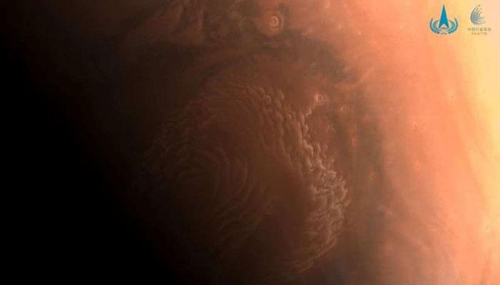 چین نے اپنے خلائی سیارے سے بنائی گئی مریخ کی سطح کی تصاویر جاری کردیں