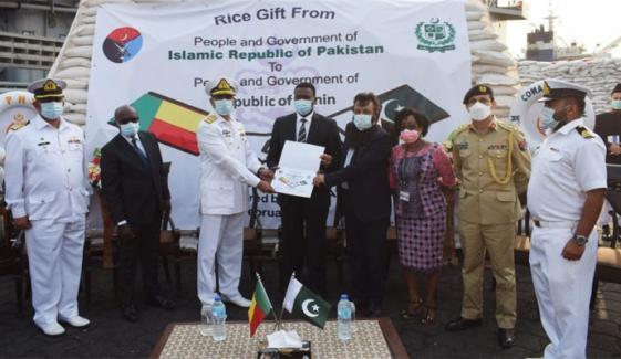 پاک بحریہ کے جہاز نصر نے نائیجر اور بینائن میں غذائی اشیا فراہم  کیں