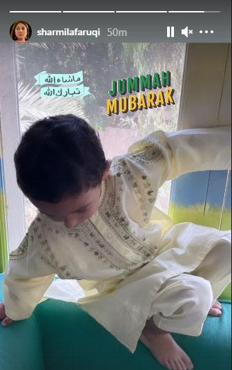 جمعۃ المبارک: شرمیلا فاروقی کے بیٹے کی تصویر مقبول