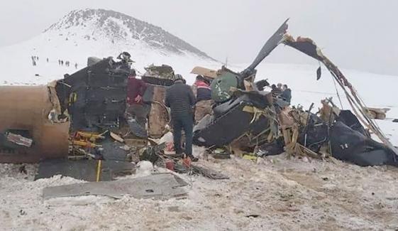 ترکی میں فوجی ہیلی کاپٹر گرگیا، 10 فوجی ہلاک