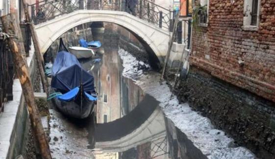 اٹلی، وینس کی نہریں خشک ہوگئیں