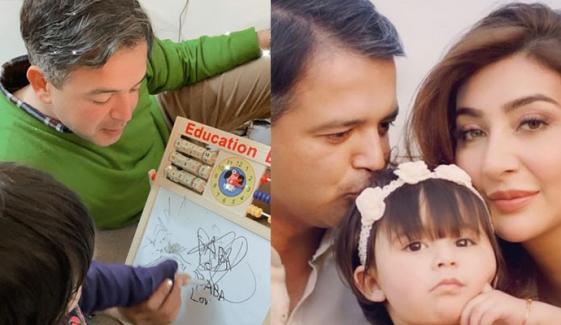 عائشہ خان کی بیٹی کی پہلی آرٹ کلاس کی تصویر وائرل