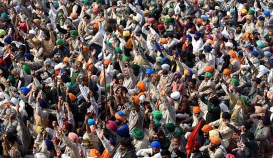 بھارتی کسانوں کے احتجاج کو 100 دن مکمل