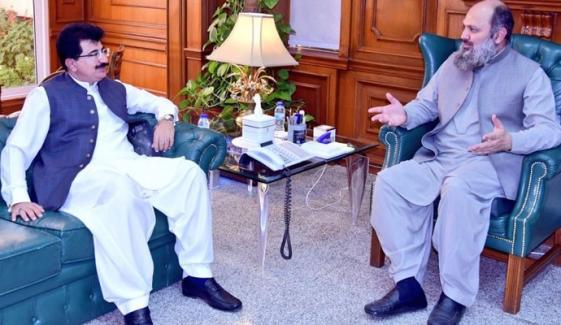 چیئرمین سینیٹ سے وزیراعلیٰ بلوچستان کی ملاقات