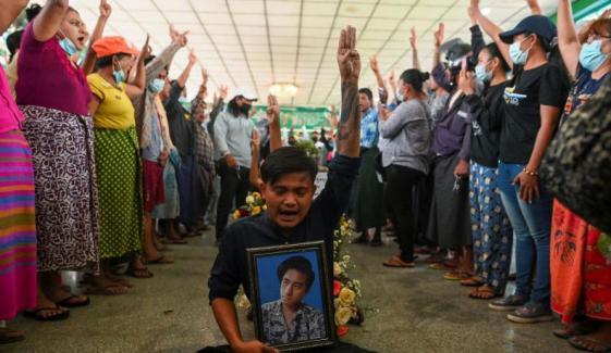 میانمار میں بحالی جمہوریت کے لیے مظاہرے، ایک شخص ہلاک