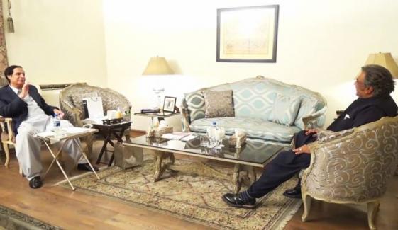 پرویز الہٰی سے علی زیدی کی ملاقات، سیاسی صورتحال پر تبادلہ خیال