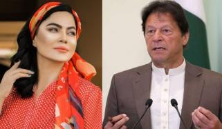 وینا ملک کی عمران خان کو مبارکباد