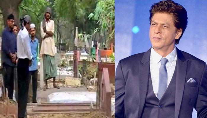 شاہ رخ خان کی اپنے والدین کی قبر پر حاضری