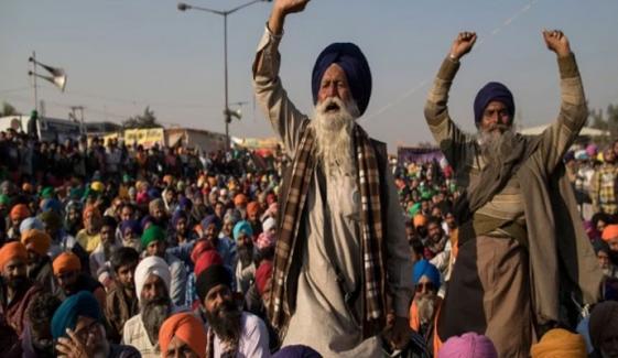زرعی قوانین کے خلاف بھارتی کسانوں کا احتجاج