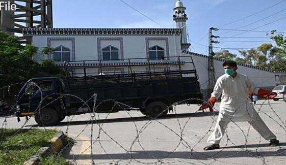 پشاور: 4 علاقوں میں اسمارٹ لاک ڈاؤن کا فیصلہ
