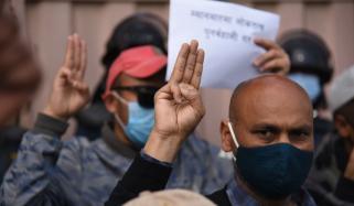 میانمار میں فوجی بغاوت کے خلاف مظاہرے