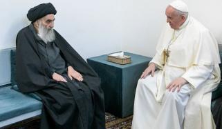 پوپ فرانسس کی آیت ﷲ سیستانی سے تاریخی ملاقات