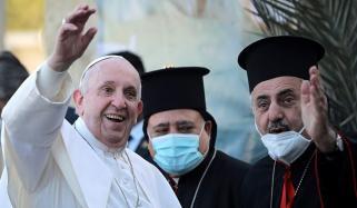 پوپ فرانسس کا موصل کا دورہ، دعائیہ تقریب میں شرکت
