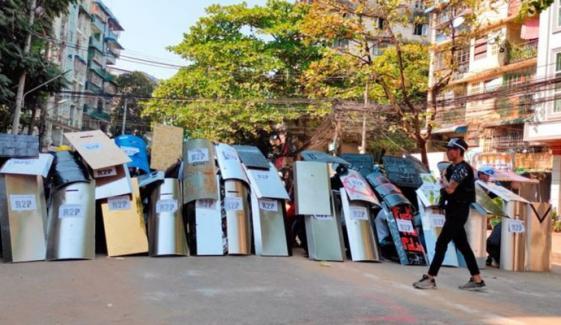 میانمار:جمہوریت کی بحالی کیلئے ٹریڈ یونین کی اپیل پرملک گیر ہڑتال