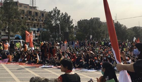 ملک بھر کے ساتھ وفاقی دارالحکومت اسلام آباد میں بھی عورت مارچ کا انعقاد