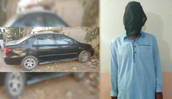 چوری کی گاڑیاں منتقل کرنیوالا وکیل گرفتار