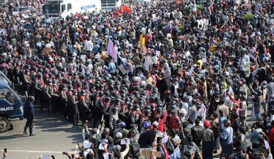 میانمار، فوجی بغاوت کیخلاف احتجاج کا سلسلہ بدستور جاری