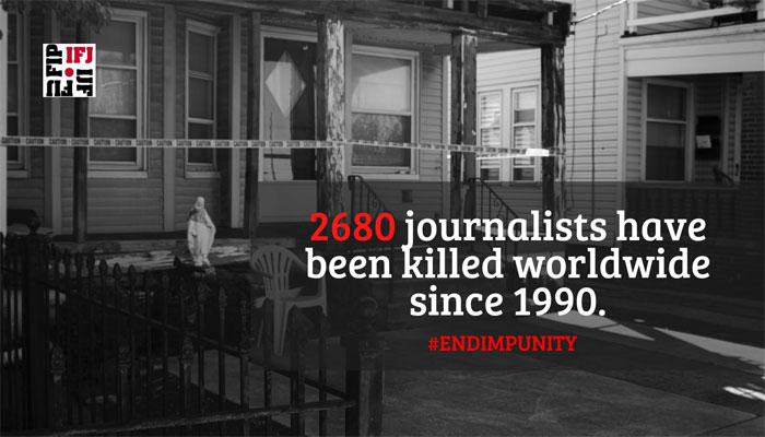 گزشتہ برس دنیا بھر میں  65 صحافی فرائض کی انجام دہی کے دوران ہلاک ہوئے