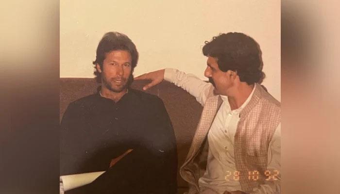 عمران خان کے فوٹو البم سے 29 سال پُرانی یاد