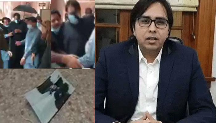 لاہور ہائیکورٹ میں شہباز گل کو انڈے مارے گئے