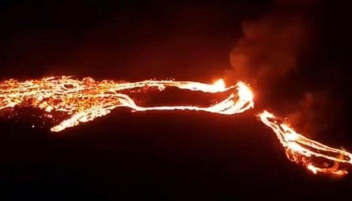 آئس لینڈ کا آتش فشاں 900 برس بعد لاوا اُگلنے لگا