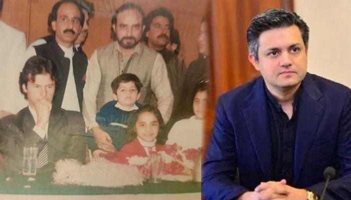حماد اظہر کی عمران خان کے ہمراہ بچپن کی تصویر وائرل