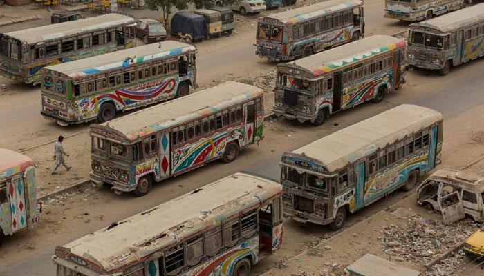 کراچی، انٹرسٹی ٹرانسپورٹ میں 50 فیصد مسافروں سفر کرینگے