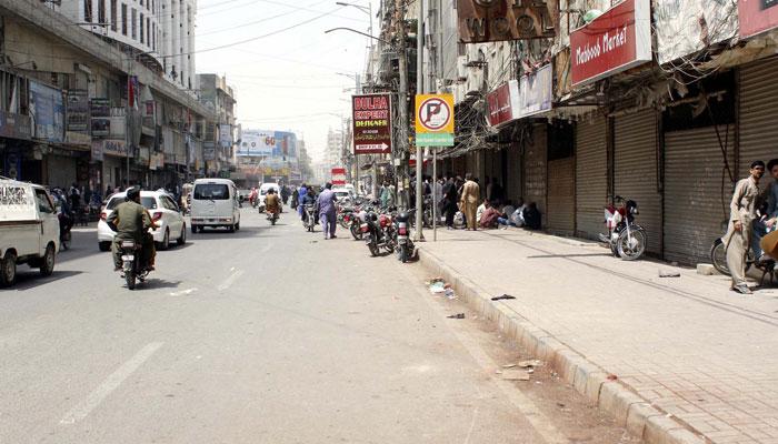 کراچی میں ہفتے کے روز مارکیٹیں بند رہیں