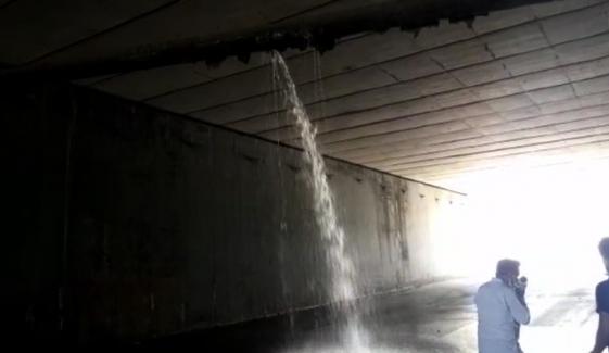 کراچی، انڈر پاس میں جمع پانی کی نکاسی کردی گئی