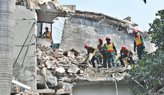 لاہور :مکان میں گیس کا دھماکہ،4 افراد جاں بحق