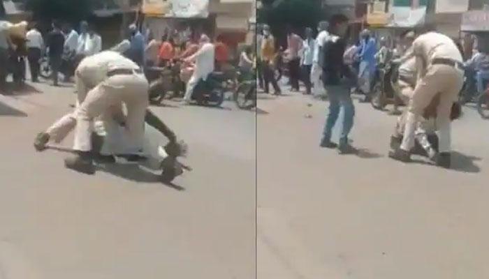 ماسک پہننے میں غلطی پر بھارتی پولیس کا رکشہ ڈرائیور پر وحشیانہ تشدد