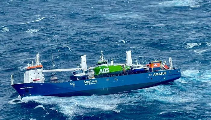 ناروے کے سمندر میں ڈچ کارگو جہاز بہہ گیا