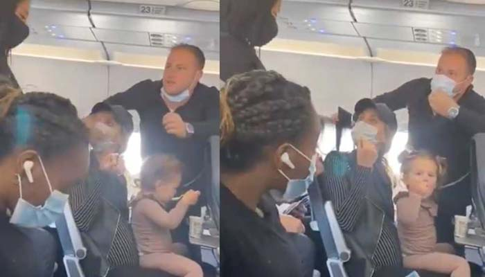 ماسک کے جھگڑے پر خاتون کو جہاز سےبے دخل کر دیا