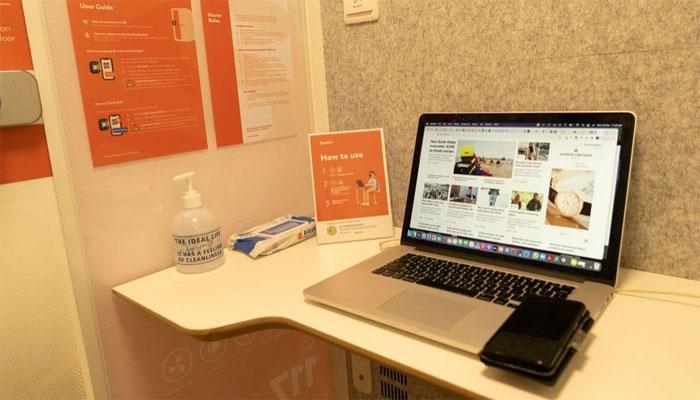 کورونا کےسبب گھر میں کام سے اکتاہٹ، سنگاپورین کمپنی نے ورکنگ بوتھ بنادیئے