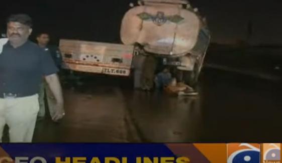 کراچی: قائد آباد پل پر آئل ٹینکر اور ٹرک کی ٹکر
