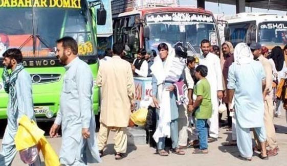 سندھ میں بین الصوبائی پبلک ٹرانسپورٹ پر ہفتے میں دو دن پابندی