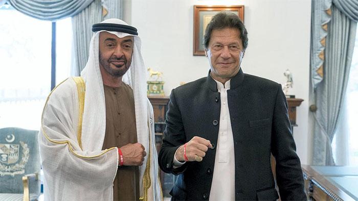 وزيراعظم عمران خان اور ولى عہد ابوظہبی شيخ محمد بن زید كے درمیان ٹیلی فونک رابطہ