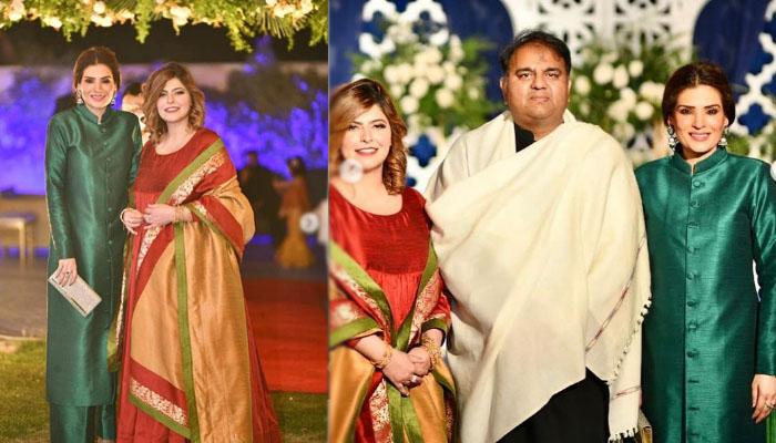 ریشم کی فواد چوہدری و اہلیہ کی ہمراہ تصاویر وائرل