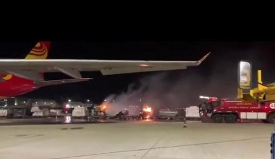 ہانگ کانگ ایئرپورٹ پر اسمارٹ فون سے بھرے کنسائنمنٹ میں آگ لگ گئی