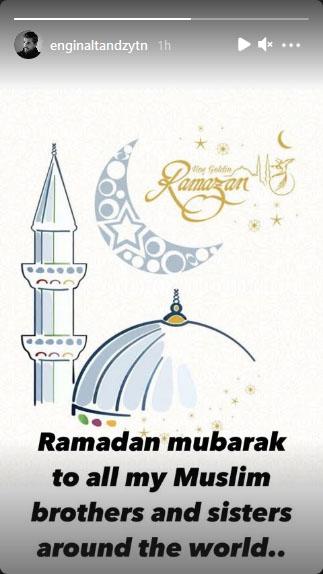 انگین التان کی مسلمانوں کو رمضان کی مبارکباد